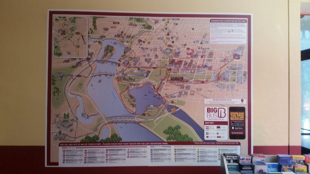 Big Bus Washington D C Vinyl Wall Map Application Yelp