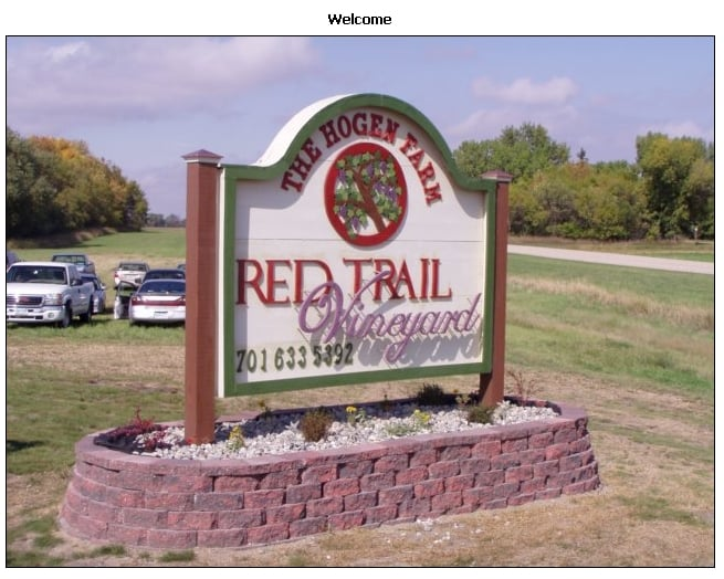 Red Trail Vineyard: 3510 142nd Ave SE, Buffalo, ND