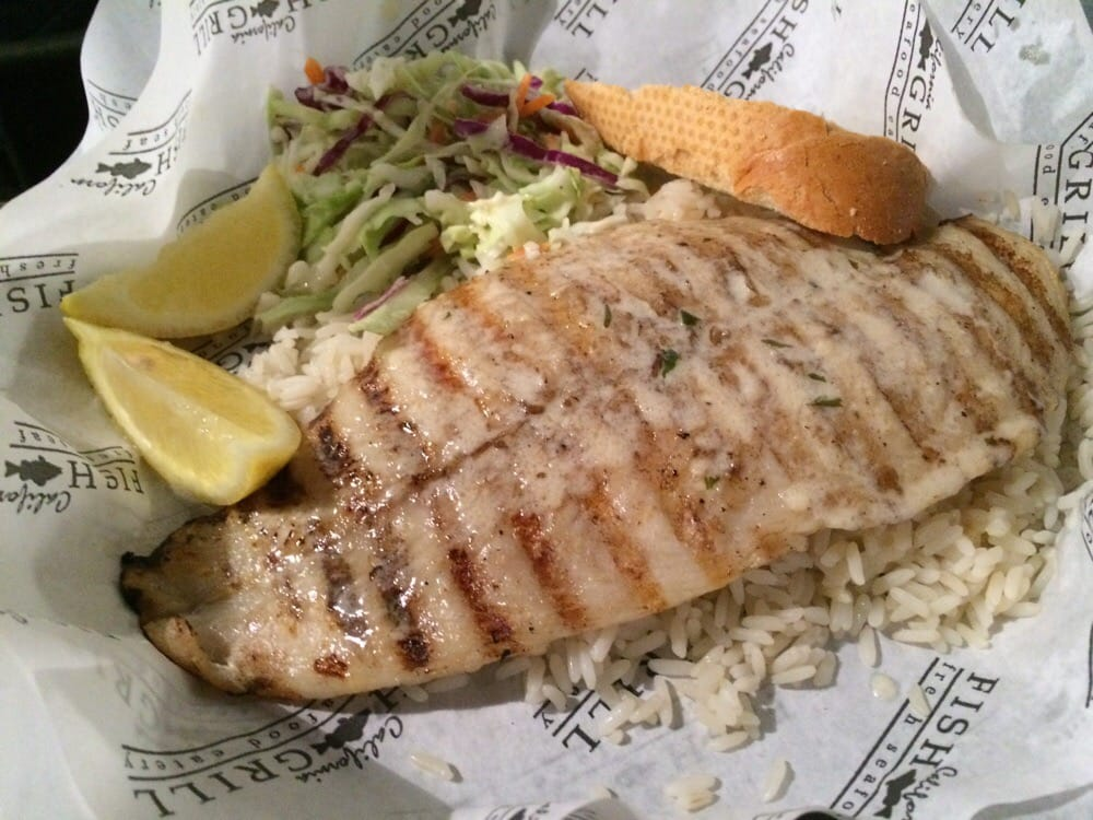 Grilled white fish combo yummy yelp for California fish grill gardena ca