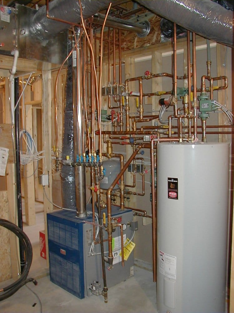 BOILER PIPING FOR IN FLOOR HEATING WITH HOT WATER MAKER OFF BOILER ...