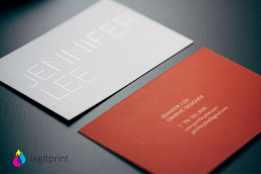 Blind spot varnish business cards - Yelp