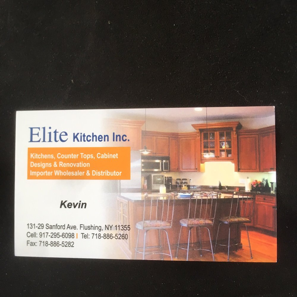 The owner of the companies business card yelp photo of elite kitchen inc queens ny united states the owner reheart Images