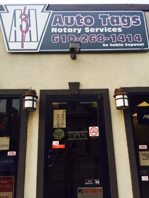 A & A Auto Tags & Insuarance Inc: 88 Pennsylvania Ave, Avondale, PA