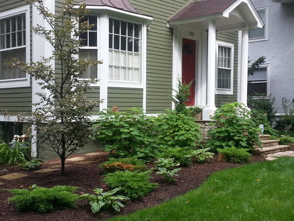 even front landscaping can include native illinois plants