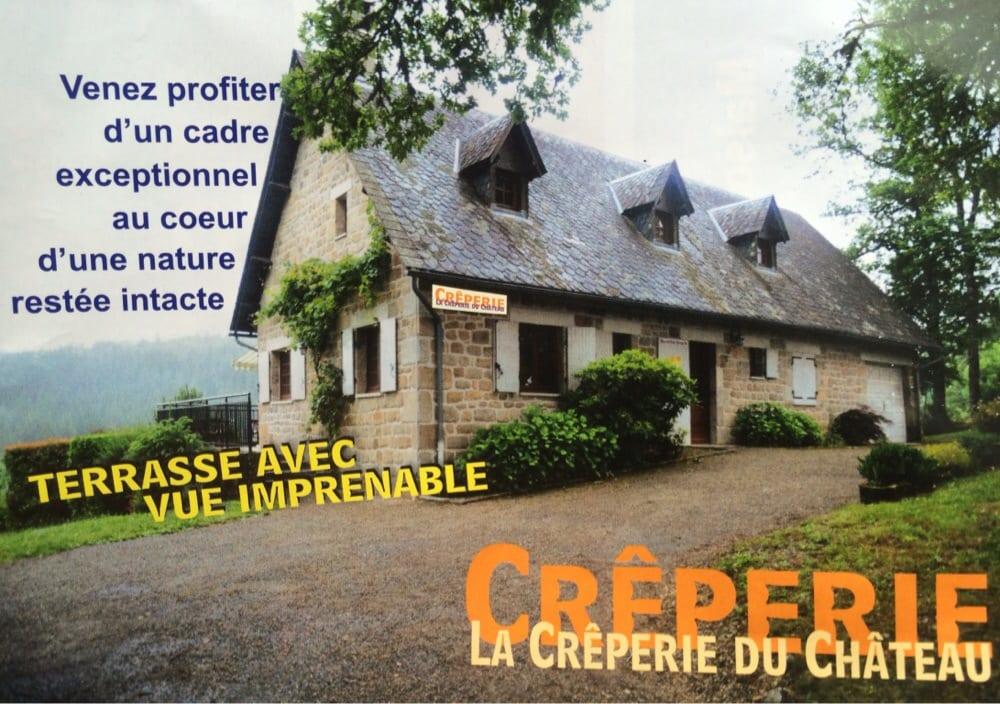 La Crêperie du Château: Face au Château, Moustier-Ventadour, 19