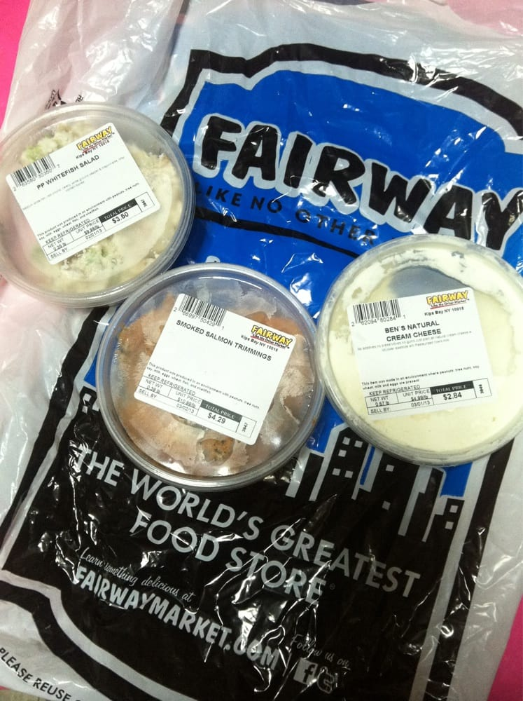 Pre packaged goods white fish salad salmon trimmings for Fairway house cleaning