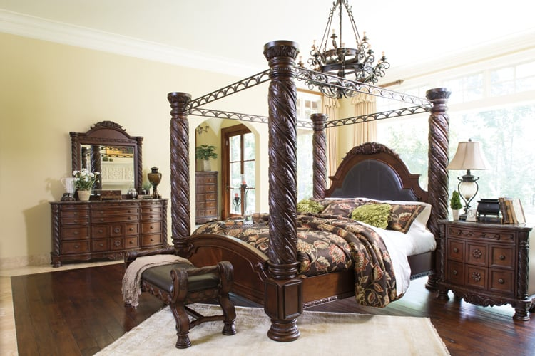 north shore canopy bedroom set. Photo of Furniture To Love  Stafford TX United States Ashley North Shore Poster Bedroom Set Yelp