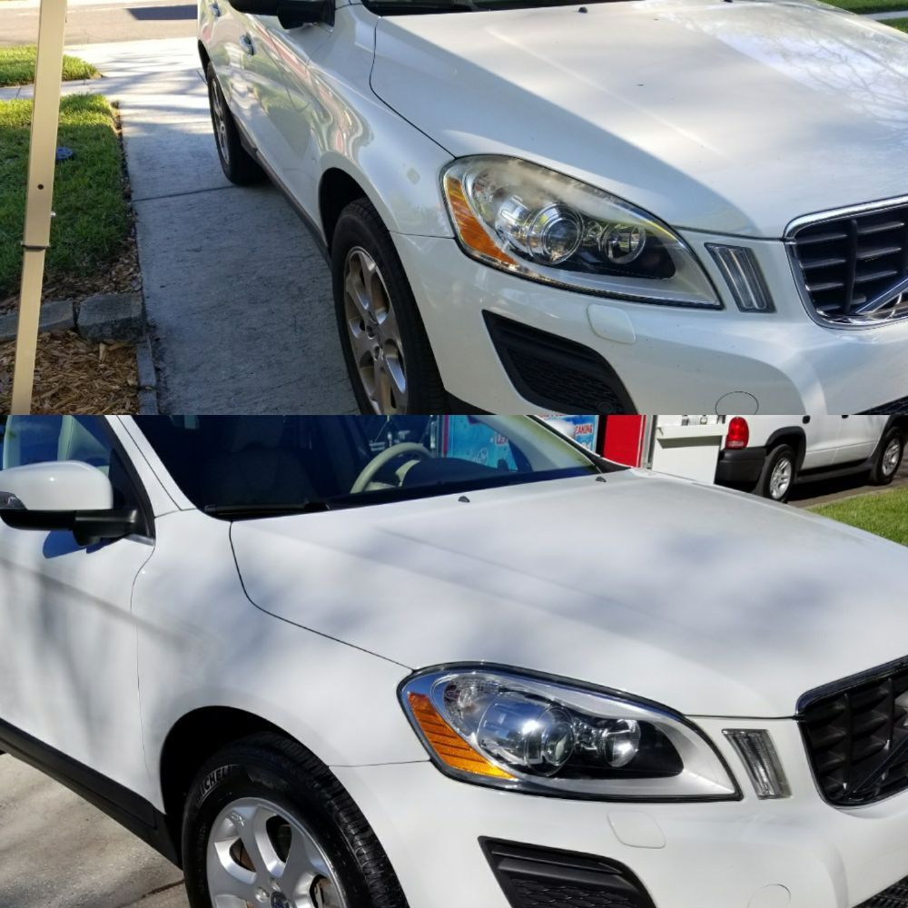 Volvo XC 60 wash, Tree sap removal from paint Clay, wax