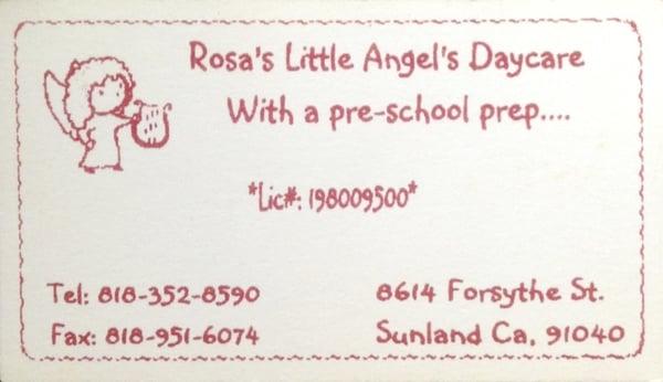 Rosa's Little Angel's Family Child-Care 8614 Forsythe St