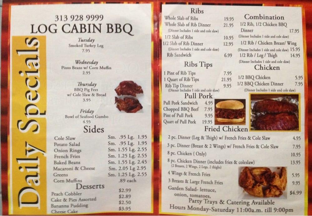 Log Cabin BBQ: 3964 Jefferson, Ecorse, MI