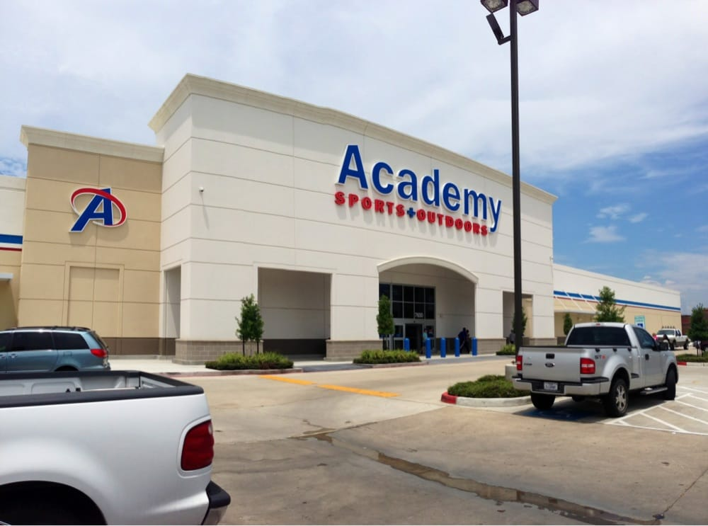 Find Academy Sports + Outdoor Stores in Houston and the location closest to you. View store hours, addresses and services for all you sporting goods as well as outdoor needs. Academy. Store Locator. tx. houston. houston. Map of Stores in houston, tx Find Academy Sports + Outdoor Stores in Houston and the location closest to you.