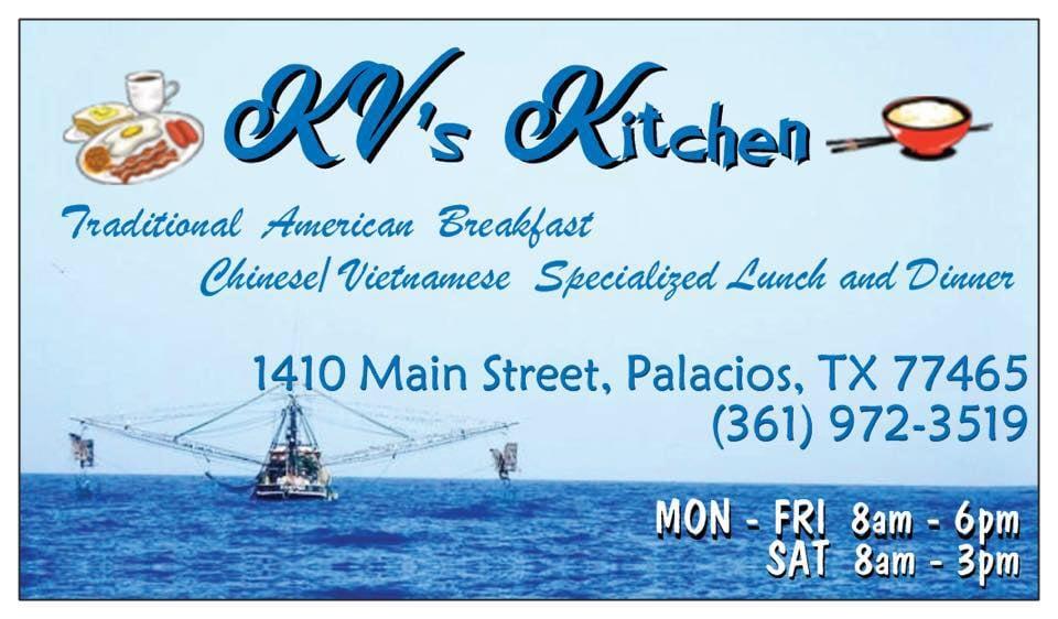 KV's Kitchen: 1410 Main St, Palacios, TX