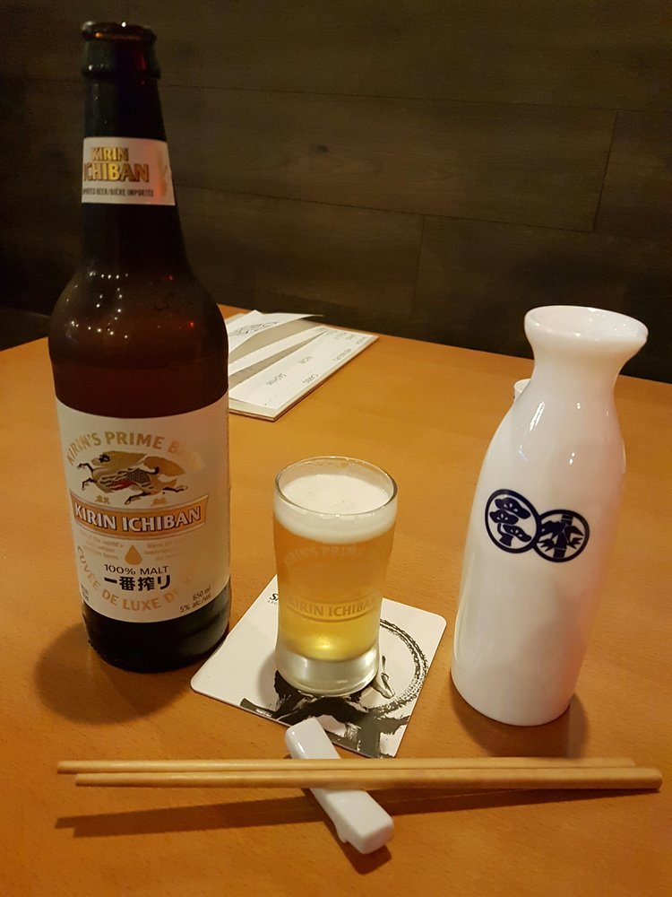 how to drink sake with beer