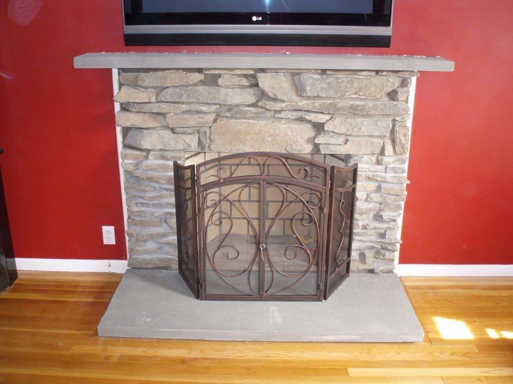 Stone Fireplace Stoughton Ma Rebuilt Brick Fireplace Custom Work Prepared For Gas Log