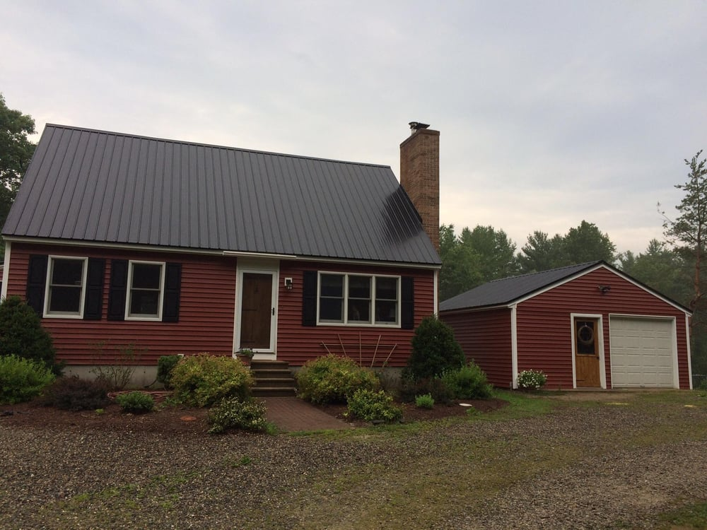 New Metal Roof With New Red Siding And White Trim Yelp