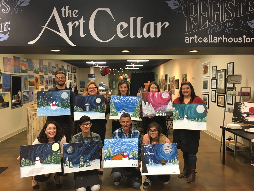 The art cellar of houston 62 photos paint sip 1460 for Sip and paint houston