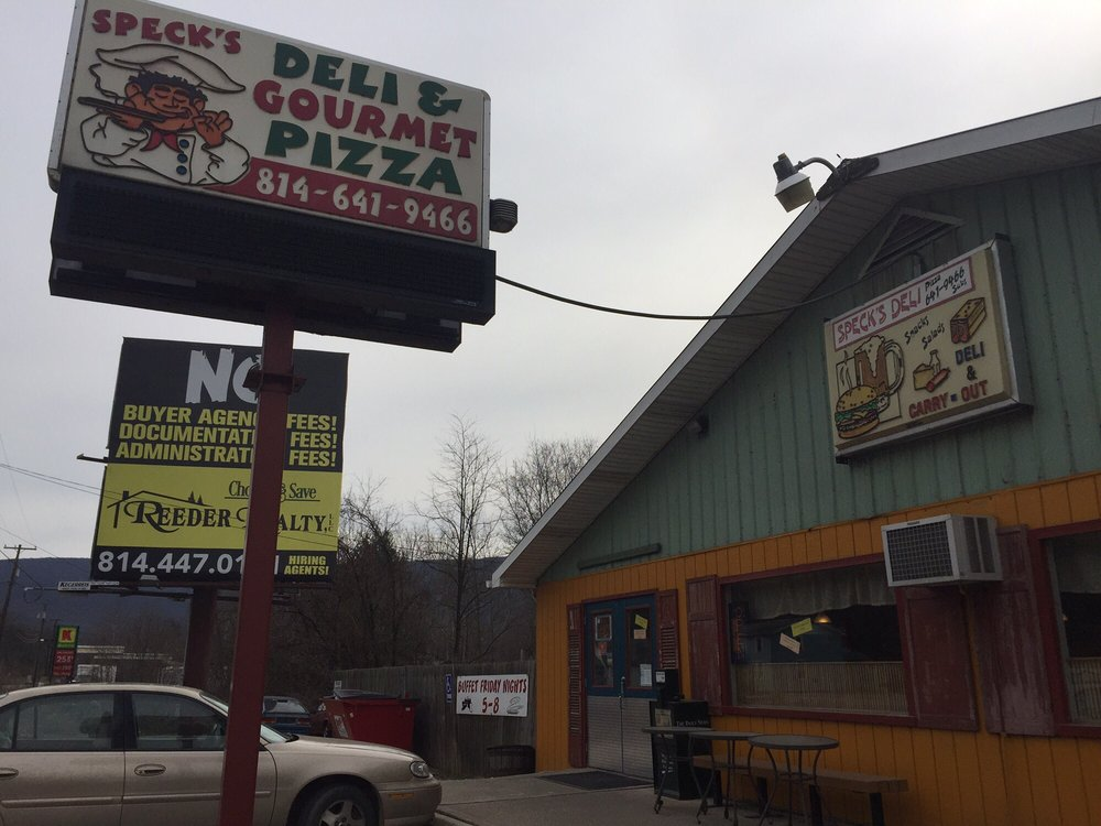 Speck's Deli & Gourmet Pizza: 12144 William Penn Hwy, Huntingdon, PA