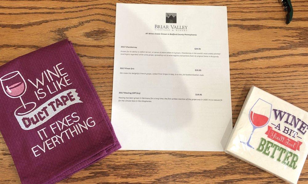 Briar Valley Vineyard & Winery: 107 E Pitt St, Bedford, PA