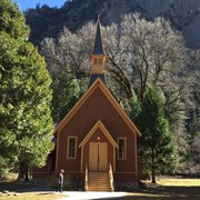Built Photo Of Yosemite Valley Chapel National Park Ca United States
