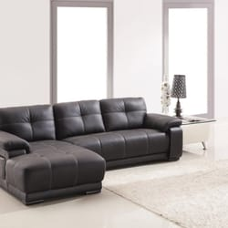 Photo Of Intra Furniture   Kent, WA, United States. Black Genuine Leather  Sectional