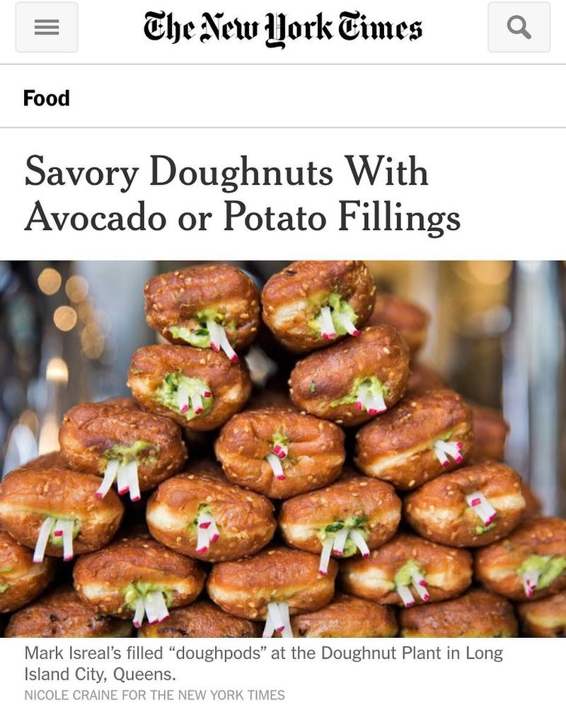 Our New Savory DOUGHPODS In The New York Times!