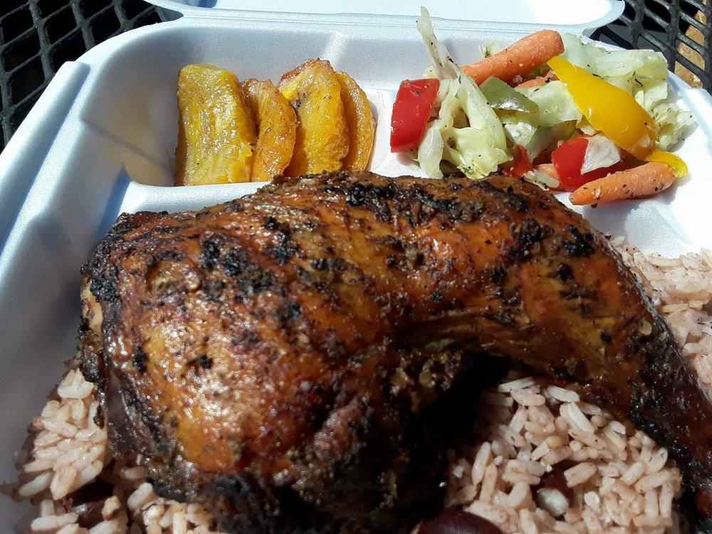 Food from Barrington's Jamaican Kitchen