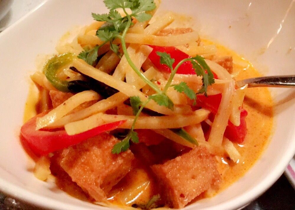 Red Curry With Fried Tofu Fantastic Served With White
