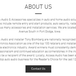 Access Audio and Accessories - Car Stereo Installation - 500 1st Ave