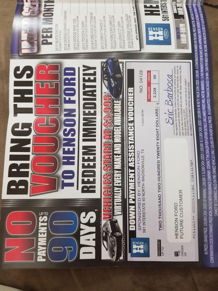 Henson Ford Madisonville Tx >> Henson Ford Inc Car Dealers 581 Interstate 45 N Madisonville
