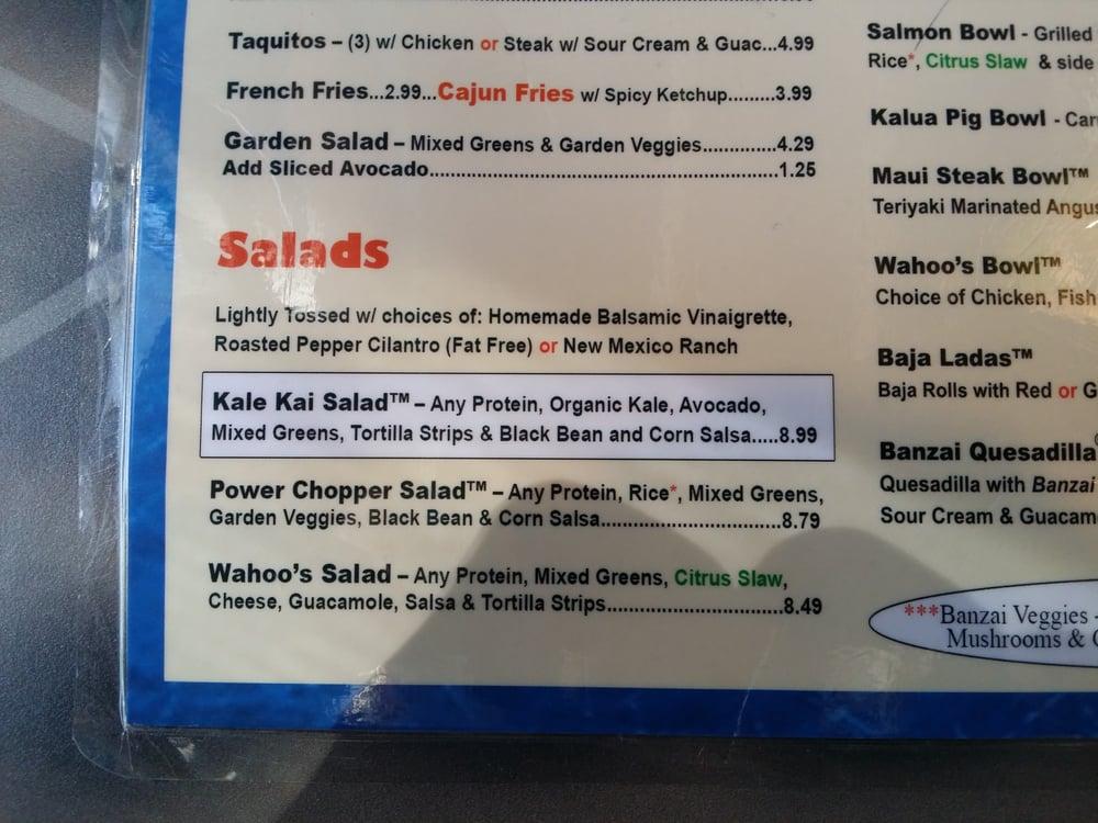 Salad menu yelp for Fish taco menu