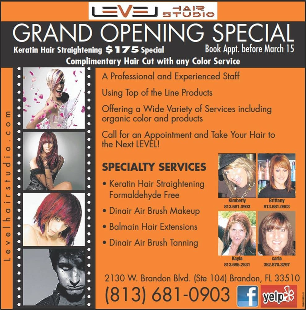 Level Hair Studio Hair Salons 2130 W Brandon Blvd Brandon Fl