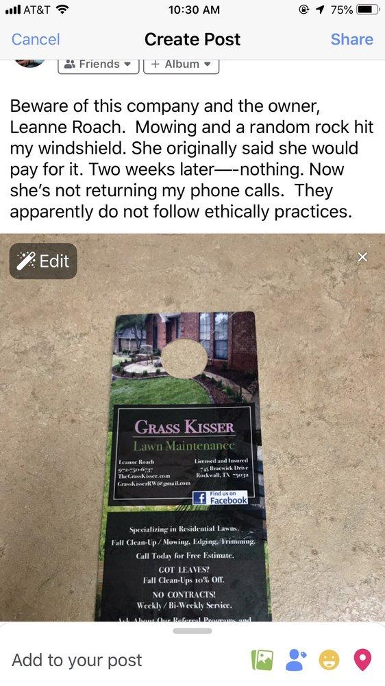 Grass Kisser Landscape Management: Royse City, TX