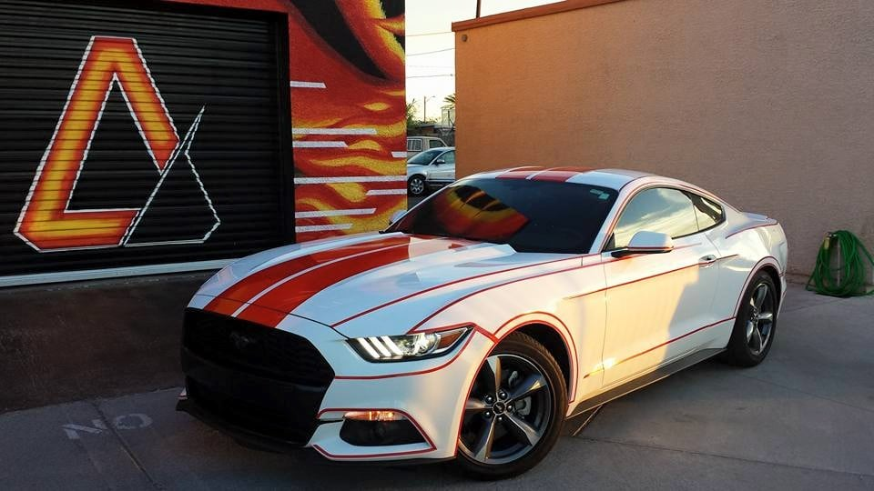 2015 Ford Mustang With Tron Relfective Vinyl Body Lines Yelp