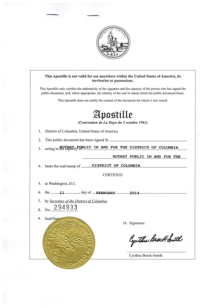 List Of Counties That Accept The Apostille Certification Page On