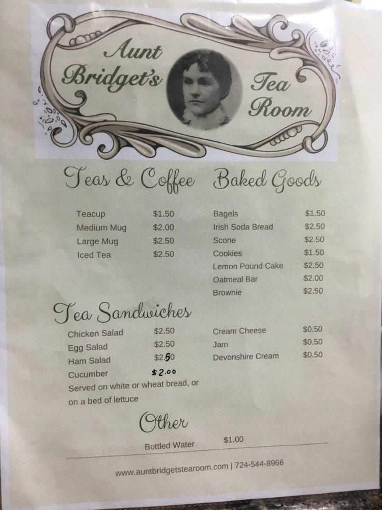 Aunt Bridget's Tea Room: 1400 Duss Ave, Ambridge, PA