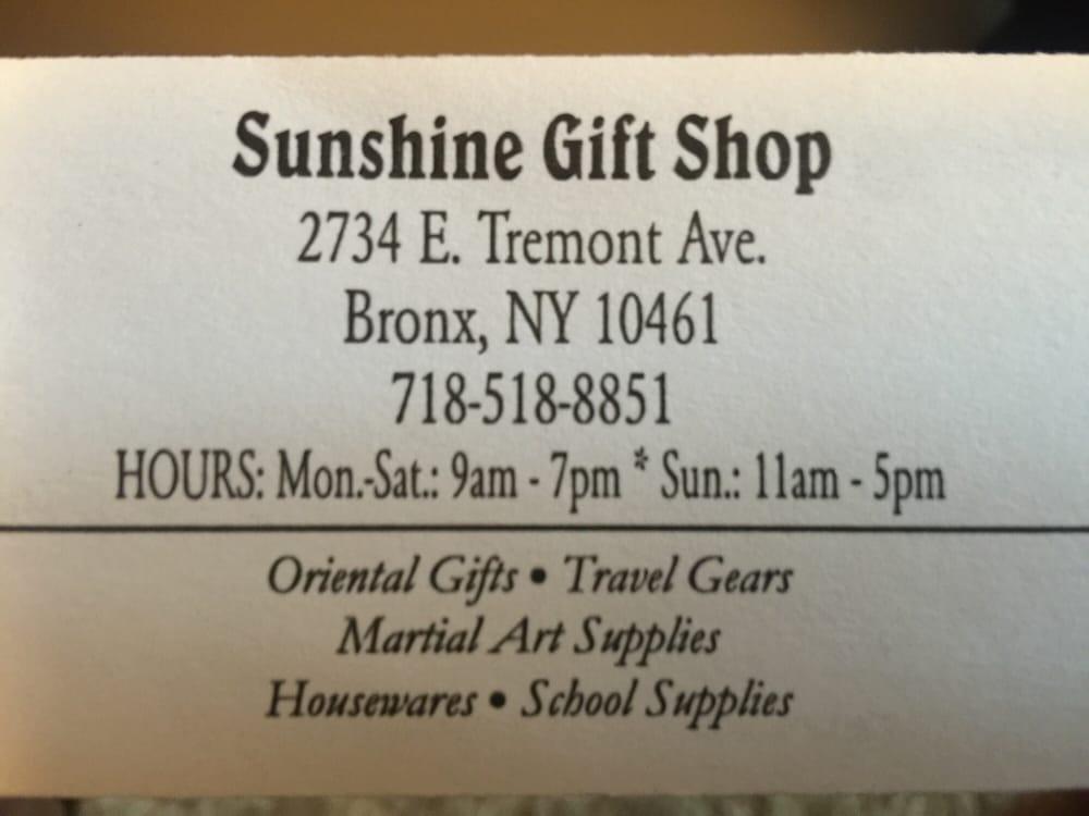 Sunshine Gift Shop: 2734 E Tremont Ave, Bronx, NY