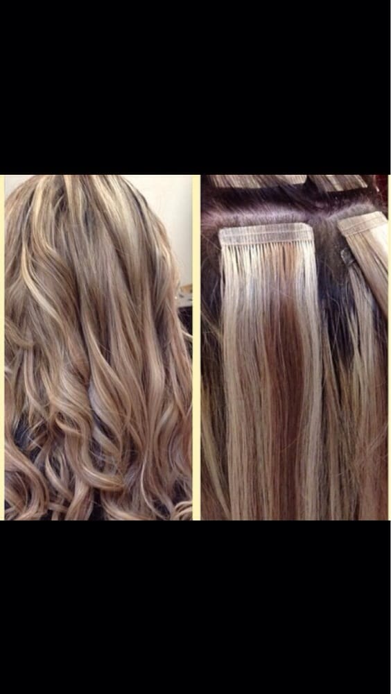 Tape extension by kathee yelp - Bellissimo hair salon ...