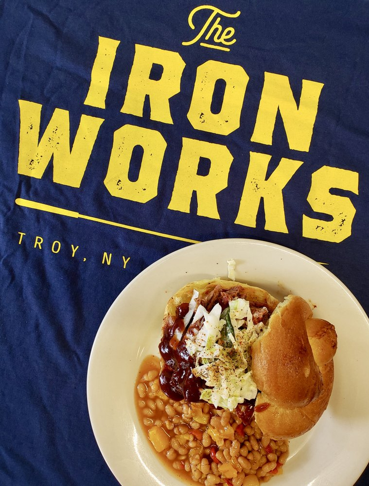 Food from Iron Works Grill