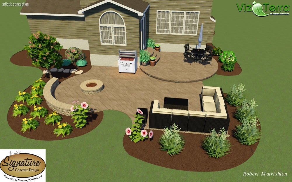Photo Of Signature Concrete Design   Easton, PA, United States. Landscape  Design Of