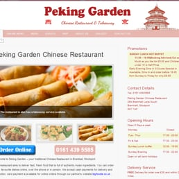 Peking Garden Restaurant Chinese 26a Bramhall Lane South Stockport Greater Manchester