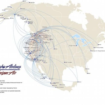 Alaska Air Group Route Map - Yelp