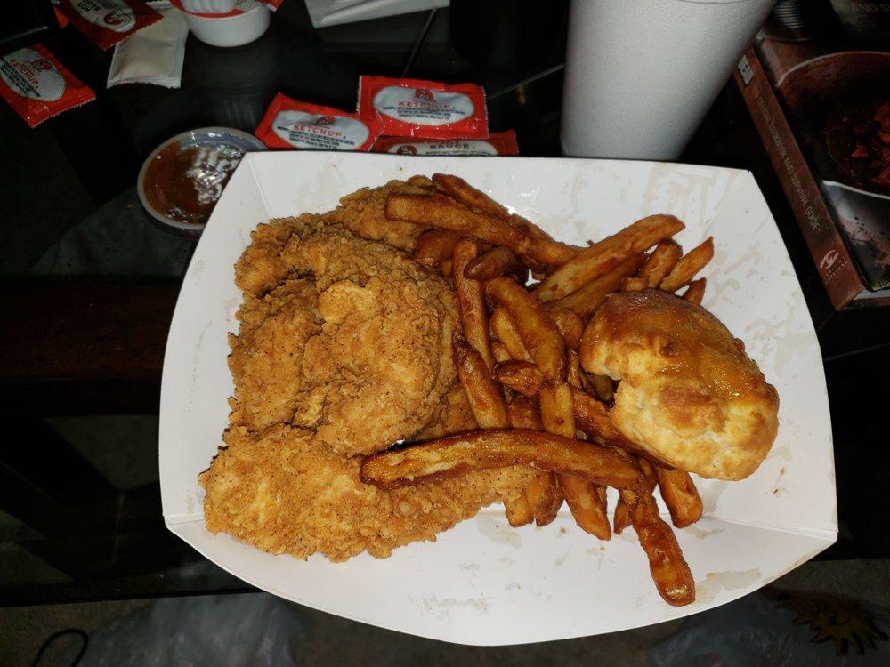 Food from Krispy Krunchy Chicken