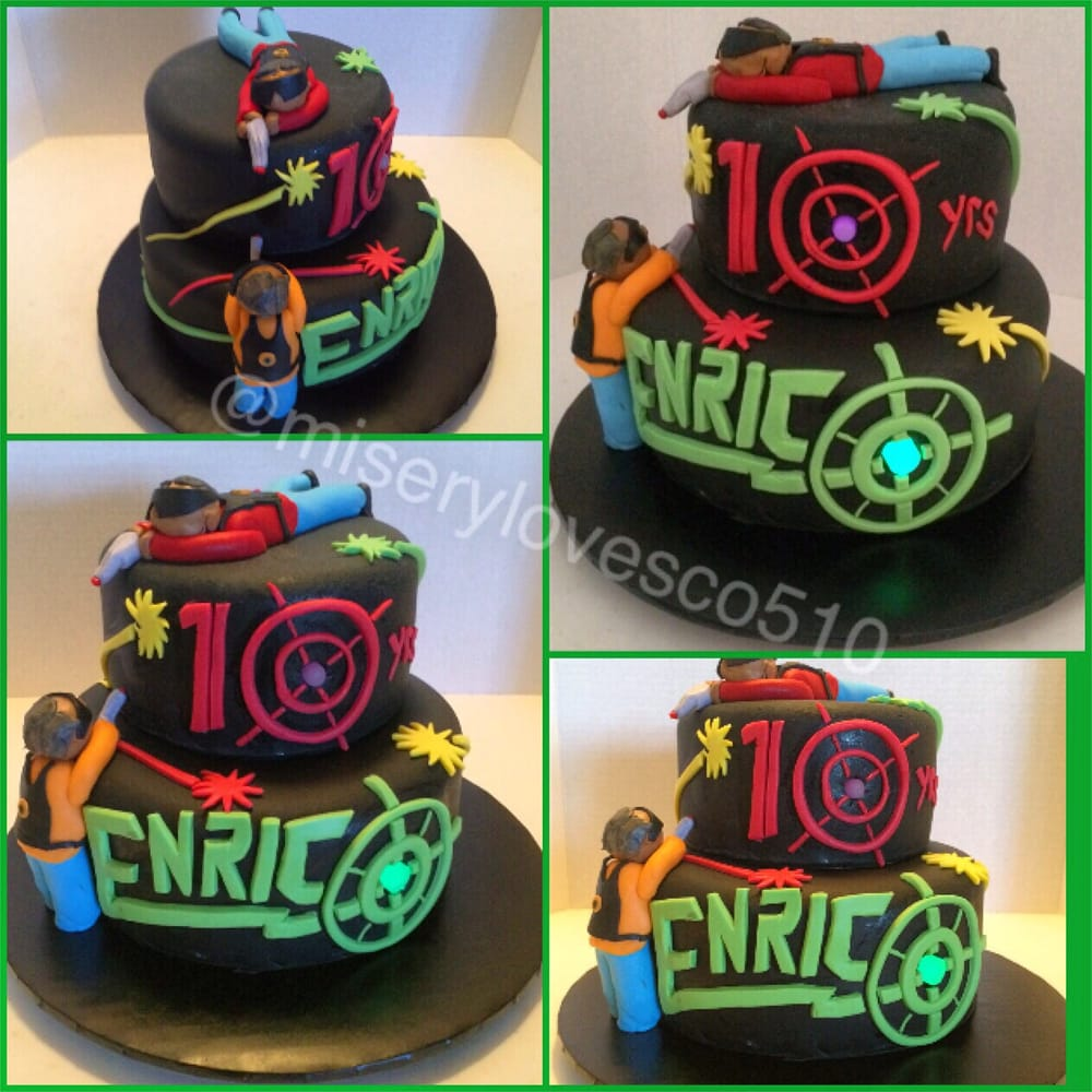 Laser Tag Bday Cake With Glow In The Dark Targets Yelp