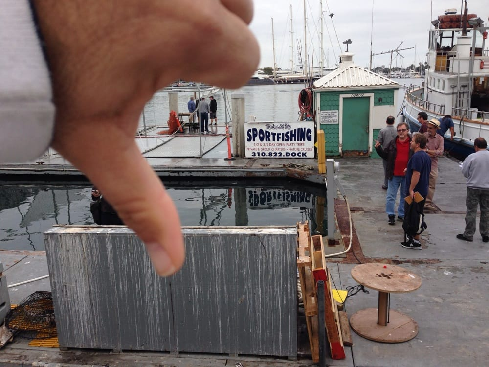 Thumbs down yelp for Marina del rey fishing report