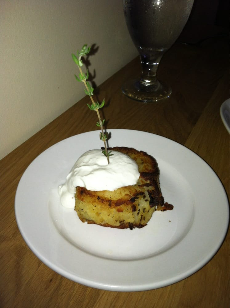 Side order of their potato pancake very tasty yelp for 12th ave grill open table