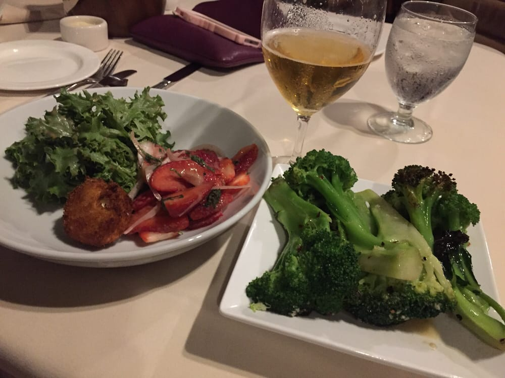 Salad and broc yelp for Merriman s fish house