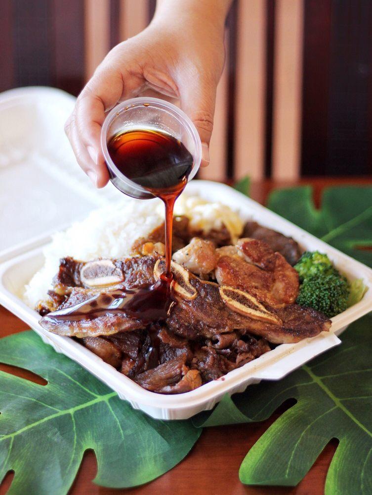 Food from iLava Hawaiian Barbecue
