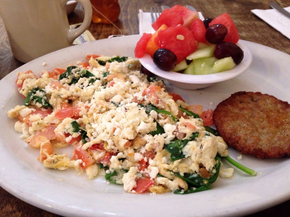 Ham, Basil, And Feta Scrambled Eggs Recipe — Dishmaps