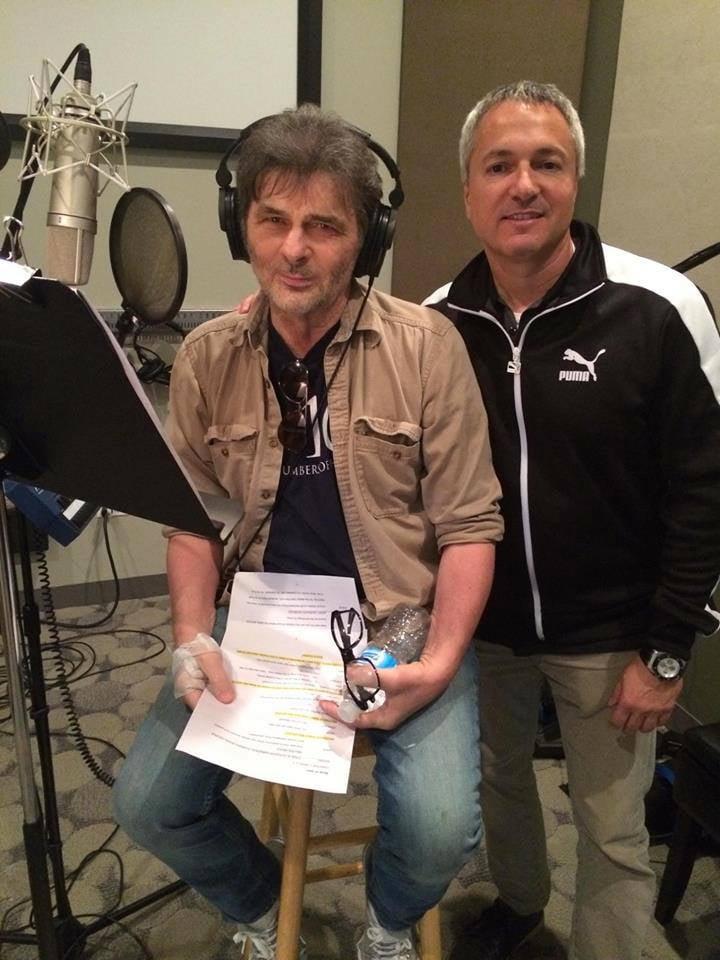 EdFogell in studio with producer & WGN radio host Carl Amari