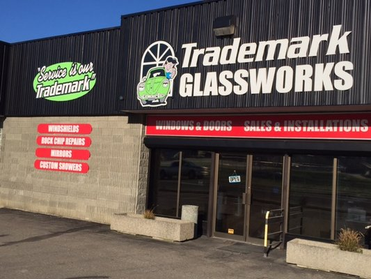 Trademark glass salmon arm